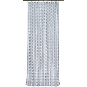Тюль на ленте «Якоря» 140х260 см цвет бело-синий