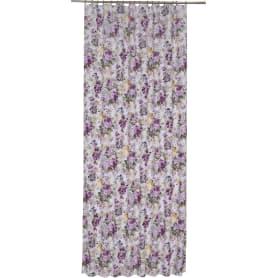 Штора на ленте «Цветы акварель» 140х260 см цвет сиреневый