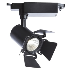 Трековый светильник светодиодный 9 Вт, 3 м², цвет черный