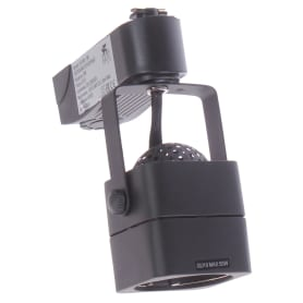 Трековый светильник со сменной лампой GU10 50 Вт 2 м² форма куб цвет черный