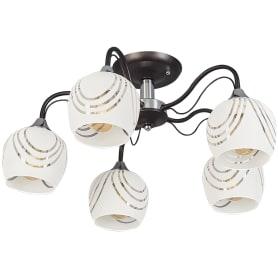 Люстра потолочная Katy 1251/5С, 5 ламп, 25 м², цвет венге