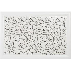 Экран для радиатора Цветы 90х60 см, цвет белый