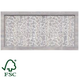 Экран для радиатора Цветы 120х60 см, цвет дуб серый