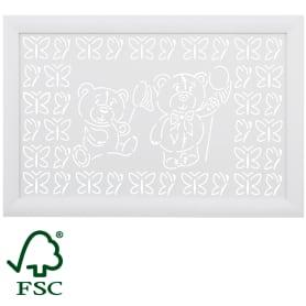 Экран для радиатора Мишки 90х60 см, цвет белый