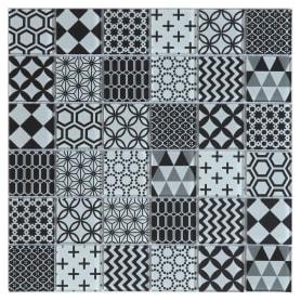 Мозаика Artens «Shaker», 30х30 см, стекло, цвет черный/белый