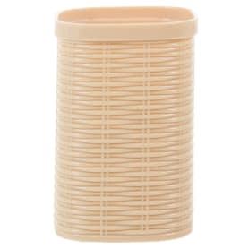 Стакан для зубных щёток настольный Swensa «Rotang» пластиковый цвет бежевый