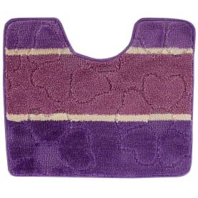 Коврик для туалета «Multi» 50х60 см цвет фиолетовый