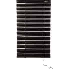 Жалюзи, алюминий, 60х155 см, цвет чёрный
