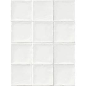 Панель ПВХ Плитка белая 8 мм 2700х375 мм 1.013 м²
