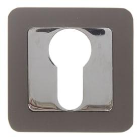 Накладка под цилиндр ET QR GR/CP-23, цвет графит/хром