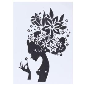 Наклейка «Девушка с бабочками»