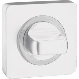 Завертка квадратная к ручкам RENZ, цвет белый/хром