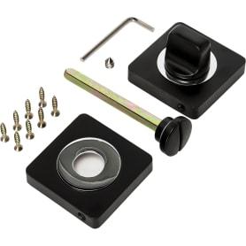 Завертка квадратная к ручкам RENZ, цвет чёрный/хром