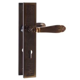 Ручки дверные на планке Apecs HP-85.1618-ANB, цвет античное серебро