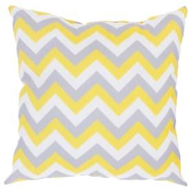 Подушка декоративная «Зиг-заг» 40х40 см цвет желтый