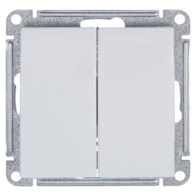 Выключатель встраиваемый Schneider Electric W59 2 клавиши, цвет белый