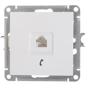Розетка телефонная Schneider Electric W59 RJ11, 160В, 1А, цвет белый