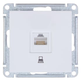 Розетка компьютерная встраиваемая Schneider Electric W59 RJ45, UTP cat 5e, цвет белый