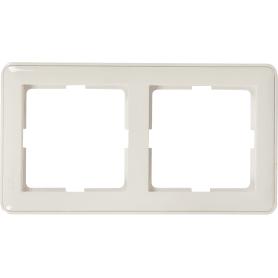 Рамка Schneider Electric W59, 2 поста, цвет белый