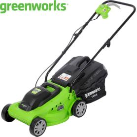 Газонокосилка электрическая GreenWorks GLM1232, 1200 Вт, 33 см