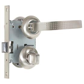 Комплект для межкомнатной двери Фабрика Замков 11L 170 BK, с фиксатором, цвет серебро