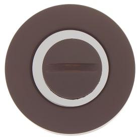 Накладка на цилиндр Фабрика замков P 1 BK, цвет коричневый матовый