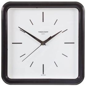 Часы настенные квадратные цвет черный диаметр 25 см