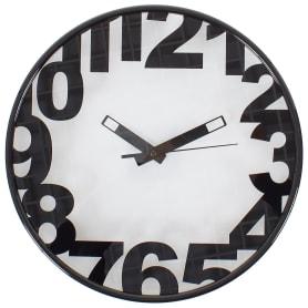 "Часы настенные ""Черные цифры"" диаметр 30 см"