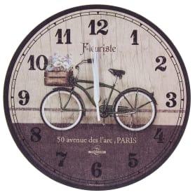 """Часы настенные """"велосипед"""" диаметр 28.5 см"""