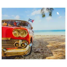 Картина на стекле 40х50 см «Машина на пляже»
