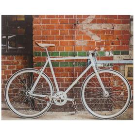 Картина на стекле 40х50 см «Велосипед у стены»