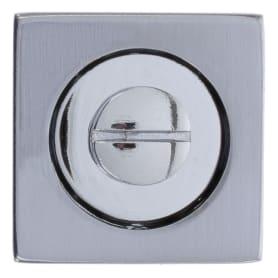 Фиксатор-вертушка для дверей Inspire квадратный, цвет хром