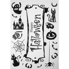 Наклейка «Канун Хеллоуина» светящаяся Декоретто