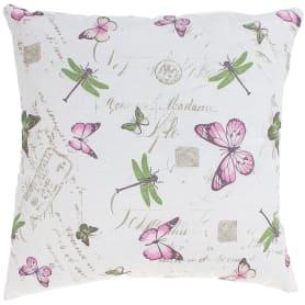 Подушка декоративная «Бабочки» 40х40 см цвет розовый