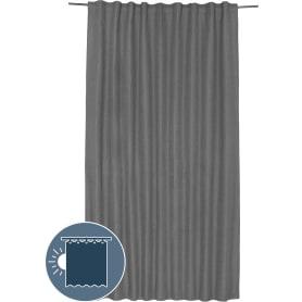 Штора на ленте со скрытыми петлями блэкаут «Майами» 200х280 см, цвет серый