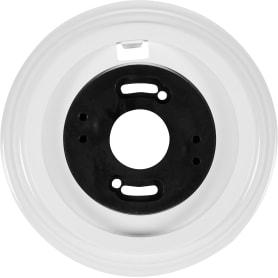 Рамка для розеток и выключателей Electraline 1 пост, цвет белый