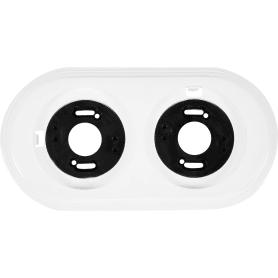 Рамка для розеток и выключателей Electraline 2 поста, цвет белый
