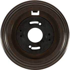 Рамка Electraline, 1 пост, цвет коричневый