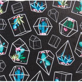Картина на холсте «Кактусы геометрия» 30х30 см