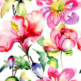 Картина на холсте «Принт розовые цветы» 30х30 см