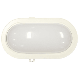 Светильник светодиодный овальный 1300 Лм, IP44, цвет белый