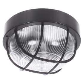 Светильник круглый 1хЕ27х60 Вт, IP44, цвет чёрный