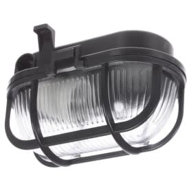 Светильник овальный 1хЕ27х60 Вт, IP44, цвет чёрный