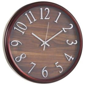 """Часы настенные """"Темное дерево"""" диаметр 36 см"""