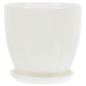 Горшок «Колор гейм» белый d15 см 1.5 л