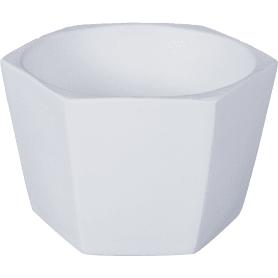 Кашпо «Эджес» шестигранник, 0.75 л, 14 см, цвет белый