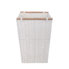 Корзинка плетеная 31х31х45 см, цвет белый/мята/коричневый/красный