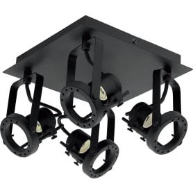 Спот поворотный Technic, 4 лампы, 8.4 м², цвет чёрный