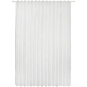 Тюль на ленте Jara, 300х280 см, полоски, цвет белый