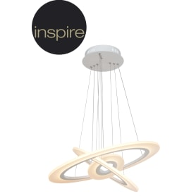 Светильник подвесной светодиодный Sykia, 15 м², тёплый белый свет, цвет белый матовый